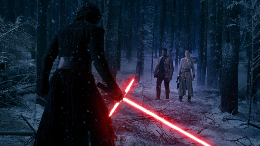 kylo_ren-vs-rey-and-finn-star_wars_the_force_awakens-5120x2880